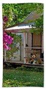 Bon Secour Pink Porch Beach Towel