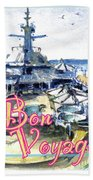 Bon Voyage Cruise Beach Towel