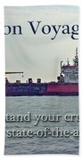 Bon Voyage Greeting Card - Enjoy Your Cruise Beach Towel