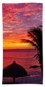 Bonaire Sunset 1 Beach Towel