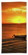 Bonaire Sunset 4 Beach Towel