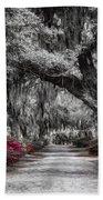 Bonaventure Cemetery Bw Beach Towel