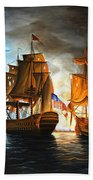 Bonhomme Richard Engaging The Serapis In Battle Beach Towel
