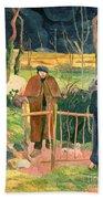 Bonjour Monsieur Gauguin Beach Towel