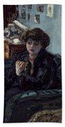 Bonnard: Lady, 19th C Beach Sheet