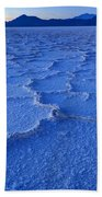 Bonneville Salt Flats At Dusk Beach Towel