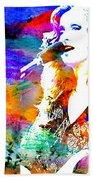 Bonnie Raitt Color Splash Beach Towel