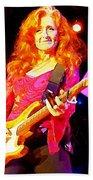 Bonnie Raitt In Concert Watercolor Beach Towel