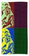 Bonnie Raitt Pop Art Poster Beach Towel