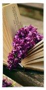 Book And Flower Beach Sheet
