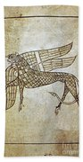 Book Of Durrow, C680 A.d Beach Towel