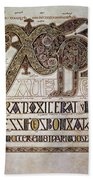Book Of Lindisfarne Initial Beach Towel