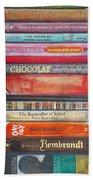 Book Stack II Beach Towel