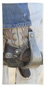 Boot And Spur Beach Towel