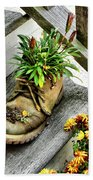 Booted Plant Beach Towel
