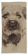 Border Terrier Beach Towel