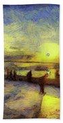 Bosphorus Sunset Art Beach Towel