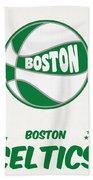 Boston Celtics Vintage Basketball Art Beach Sheet