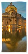 Boston Christian Science Building Reflecting Pool Beach Towel