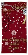 Boston College Eagles Christmas Card Beach Towel