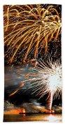 Boston Fireworks On The Charles Beach Towel