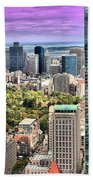 Boston From Above Beach Towel