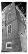 Boston Old State House Boston Ma Angle Black And White Beach Towel