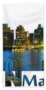 Boston Skyline Beach Sheet