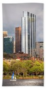 Boston Skyline Skyscraper Boston Ma Charles River Beach Towel