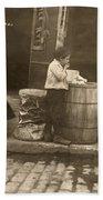 Boston: Slums, 1909 Beach Towel