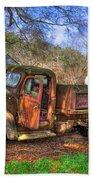 Boswell 1947 Dump Truck Farm Scene Beach Towel