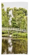 Botanical Bridge - Van Gogh Beach Towel