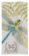 Botanical Dragonfly-jp3418b Beach Towel