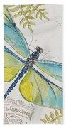 Botanical Dragonfly-jp3423b Beach Towel