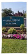 Botanical Gardens Floral Landscaped Entrance  Beach Towel