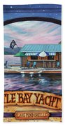 Bottle Bay Yacht Club Beach Towel