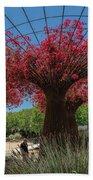 Bougainvilleas Tree Scultures Beach Towel