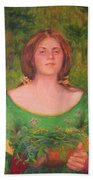 Bouguereau Girl In The Cross Timbers Of Oklahoma Beach Sheet