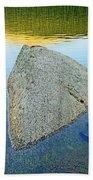 Boulder At Echo Lake Beach Towel