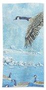 Boulder Bay Geese Beach Towel