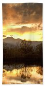 Boulder County Sunset Reflection Beach Towel