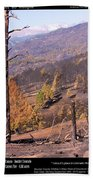 Boulder County Wildfire 5 Miles West Of Downtown Boulder Beach Towel