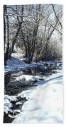 Boulder Creek After A Snowstorm Beach Towel
