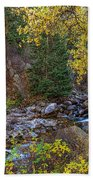Boulder Creek Autumn View  Beach Towel