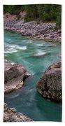 Boulder In The River - Slovenia Beach Towel