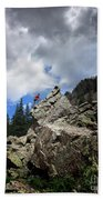 Bouldering On The Flint Creek Trail - Weminuche Wilderness Beach Towel