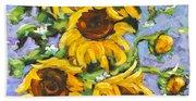 Bouquet Del Sol Sunflowers Beach Towel