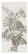 Bouquet Of Different Flowers, Jacques Bailly I, Ca. 1670 , Beach Towel