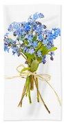 Bouquet Of Forget-me-nots Beach Sheet