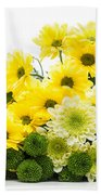 Bouquet Of Fresh Spring Flowers Isolated On White Beach Towel